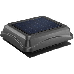 Solar Attic Vent Surface Mount Black