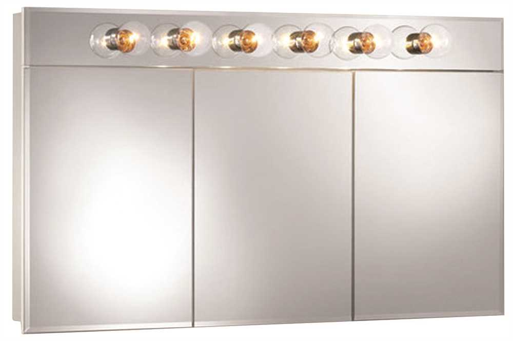 TRIVIEW MEDICINE CABINET 48 IN. X 28 IN. WHITE LIGHTED