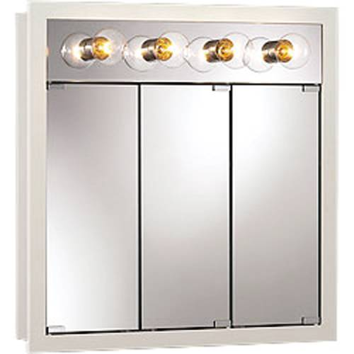 TRIVIEW MEDICINE CABINET 30 IN. X 30 IN. WHITE LIGHTED