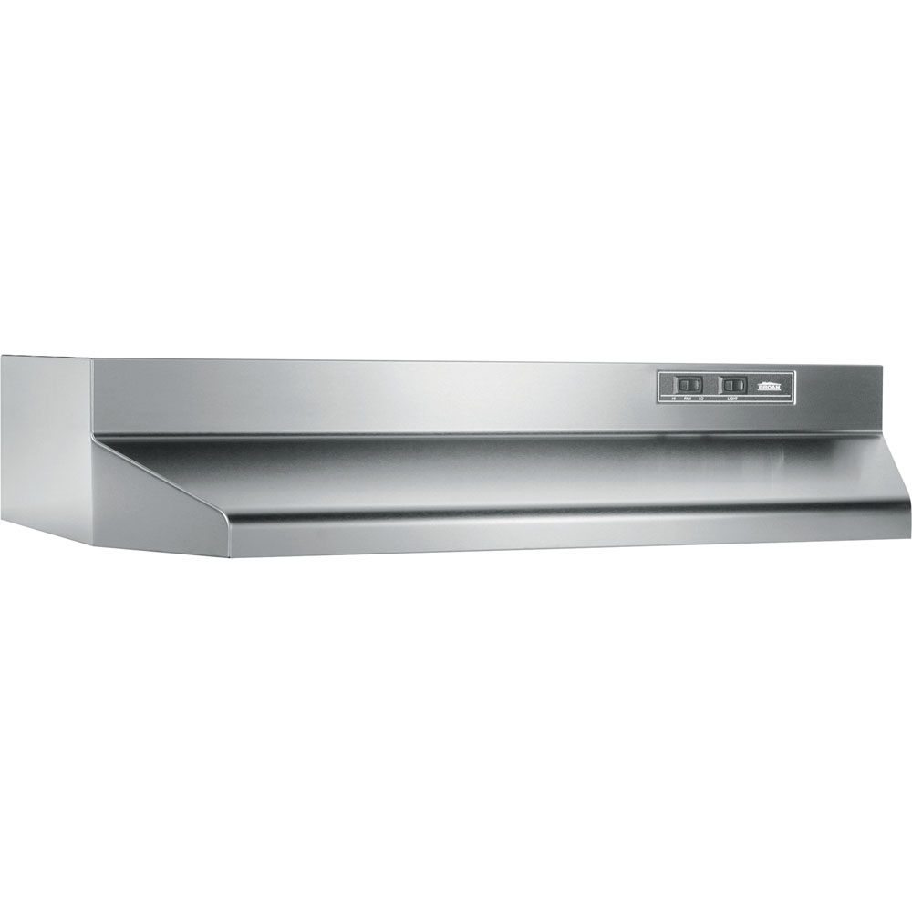 "160 CFM 36"" 2 Speed Rocker Ducted Range Hood with Light, Stainless Steel"