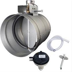 """6"""" Universal Automatic Make-Up Air Damper w/ Pressure Sensor Kit"""