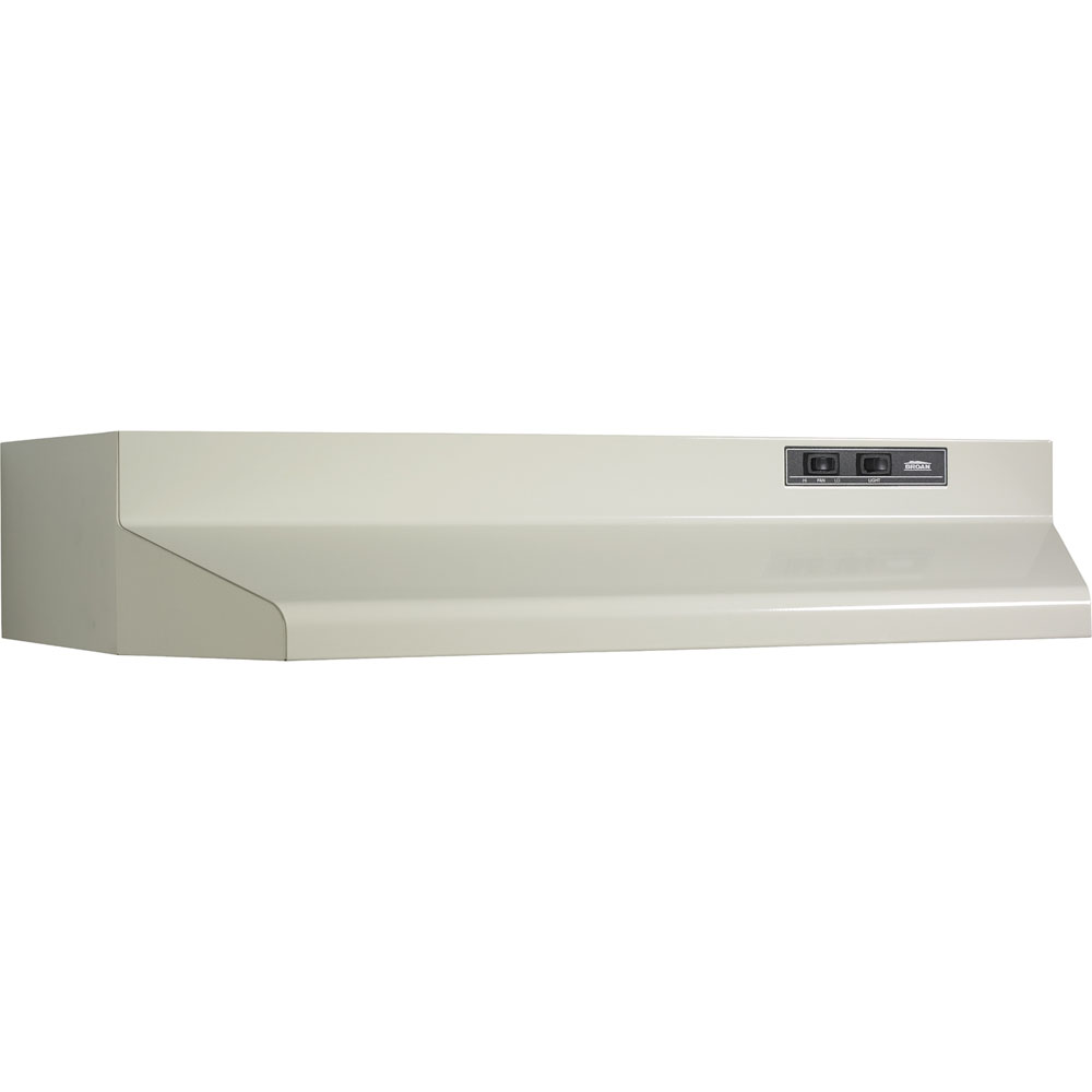 "160 CFM 42"" Two-Speed Ducted Under Cabinet Range Hood, Almond"