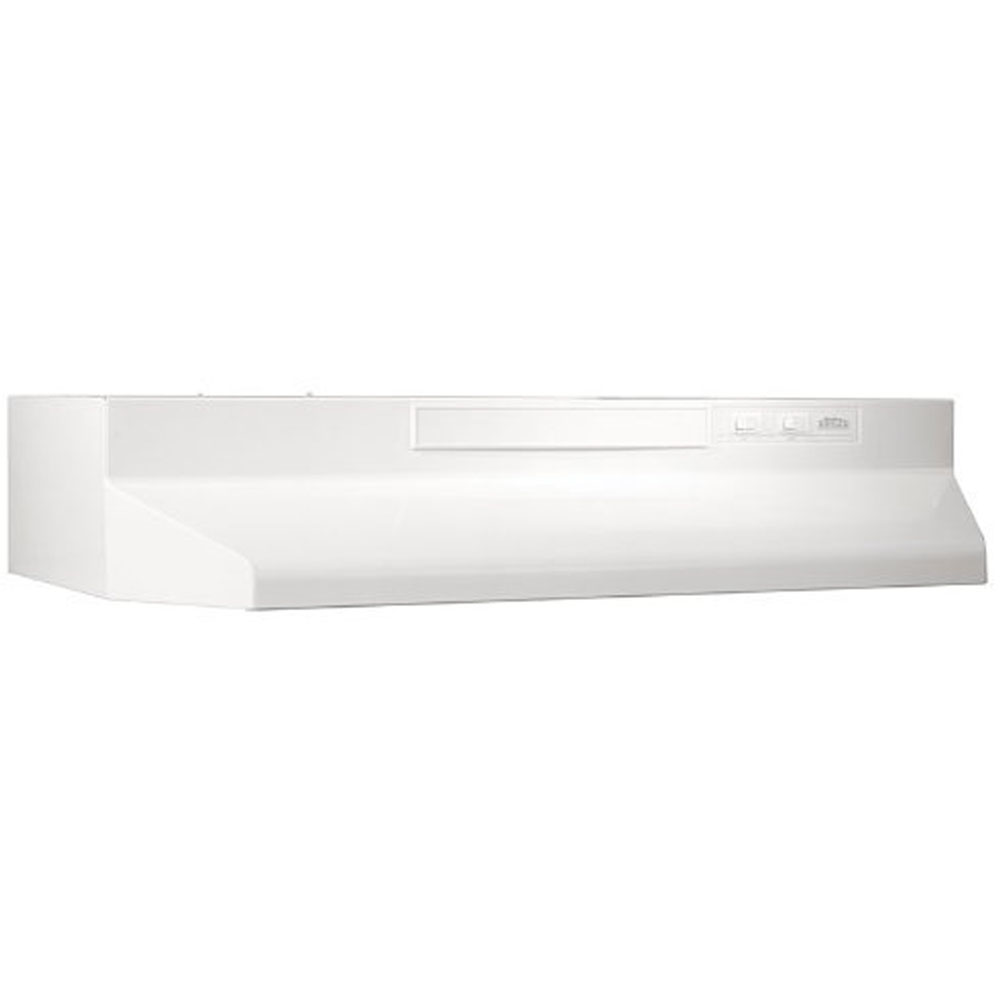 "220 CFM 36"" Two-Speed Convertible Undercabinet Range Hood, White"