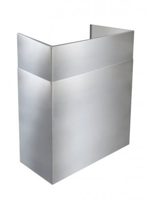 """24"""" to 45"""" Telescopic Flue Ext, Outdoor Hoods, 16"""" Extended Install"""