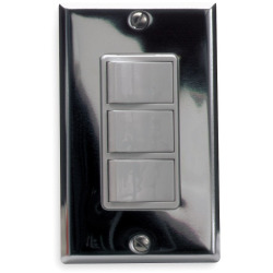 3-Function Control Wall Switch, 15 AMP, 120V