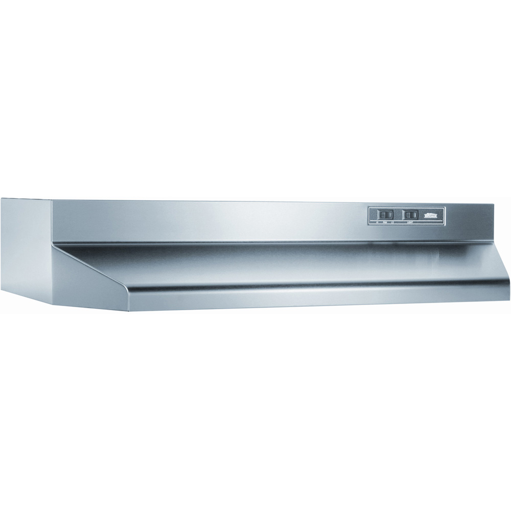 "30"" Ducted Range Hood, 2 Speed Rocker, Light, 160 CFM"