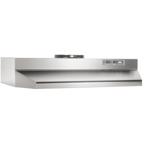 "190 CFM 42"" Undercabinet Range Hood, 7"" Round Ducted Only, Stainless Steel"