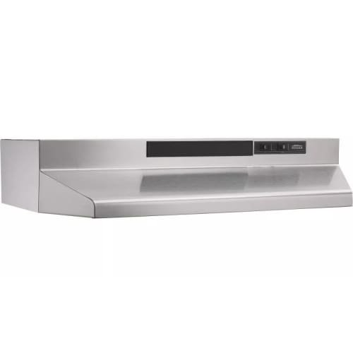"24"" Convertible Range Hood, 2 Speed Rocker Light, 160 CFM"