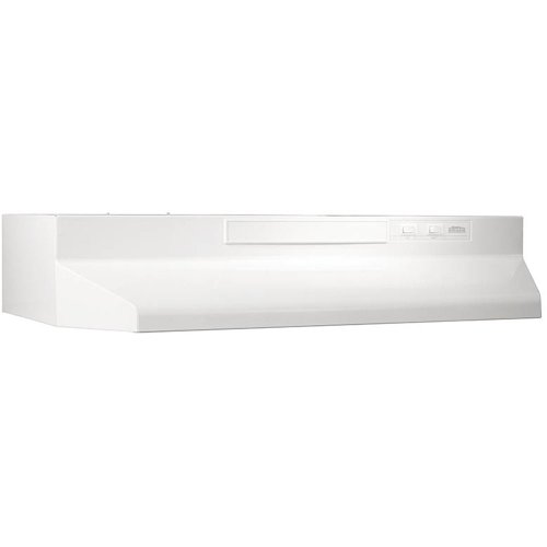 "160 CFM 42"" Four-Way Convertible Range Hood, White-on-White"