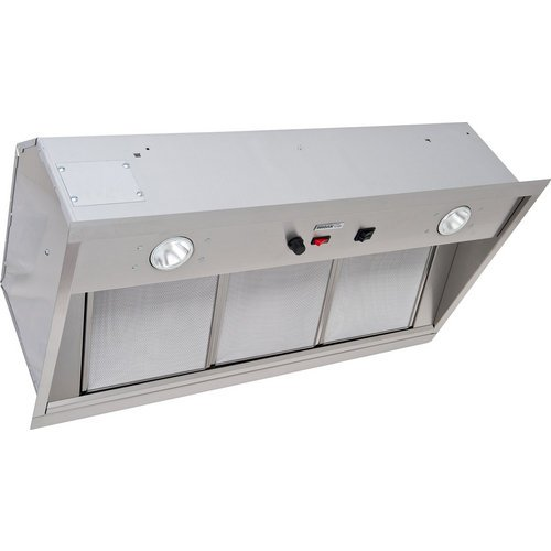 "1500 CFM 33.75"" Wide Stainless Steel Insert Range Hood With Heat Se, Stainless Steel"