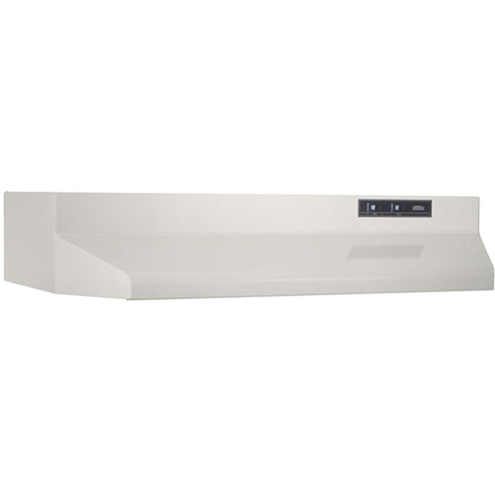 "160 CFM 24"" 4-Way 2-Speed Convertible Range Hood, White"