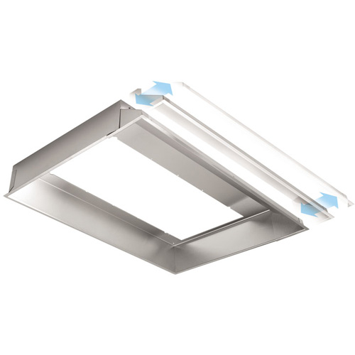 "36"" Range Hood Liner For Use With Rmip33 Power Module, Stainless Steel"