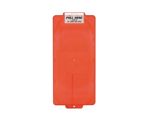 BROOKS' MARK I SERIES FIRE EXTINGUISHER CABINET COVER, RED, SMALL