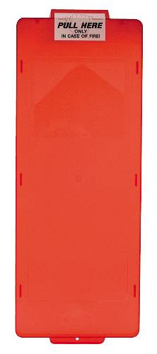 BROOKS' MARK II SERIES FIRE EXTINGUISHER CABINET COVER, RED, LARGE