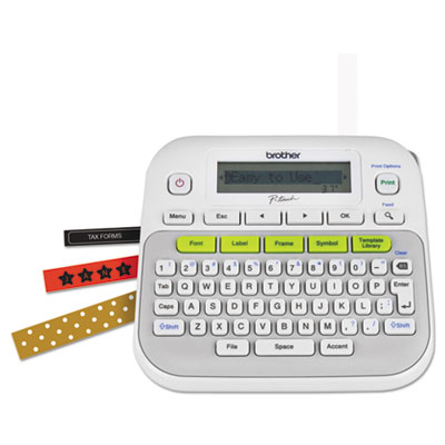 PT-D210 Easy, Compact Label Maker, 2 Lines