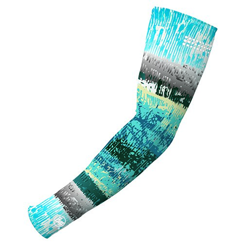 Buff UV Arm Sleeves, M/L, Aqua Glitch