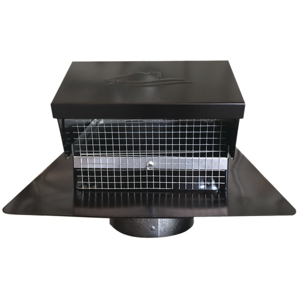 "Builder's Best 012635 Black Metal Roof Vent Cap (4"" Collar)"