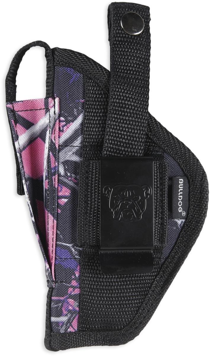 Bulldog Muddy Girl Camo Belt and clip ambi holster w/clam shell packaging