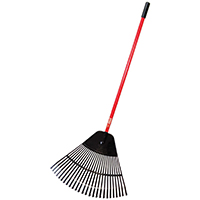 Bully Tools 92624 Commercial Grade Leaf Rake, 24 in W x 22 in L Head, 26 Tine, 41 in Handle