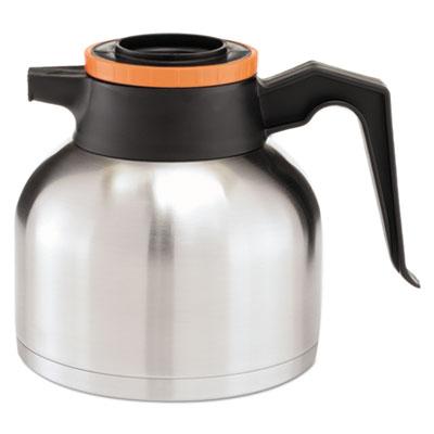 1.9 Liter Thermal Carafe, Stainless Steel/ Black and Orange (Decaf)