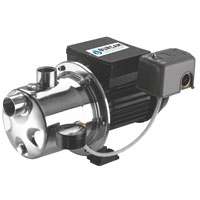 Burcam 506518SS Shallow Well Jet Pump, 3/4 hp, 65 - 70 psi Case, Stainless Steel