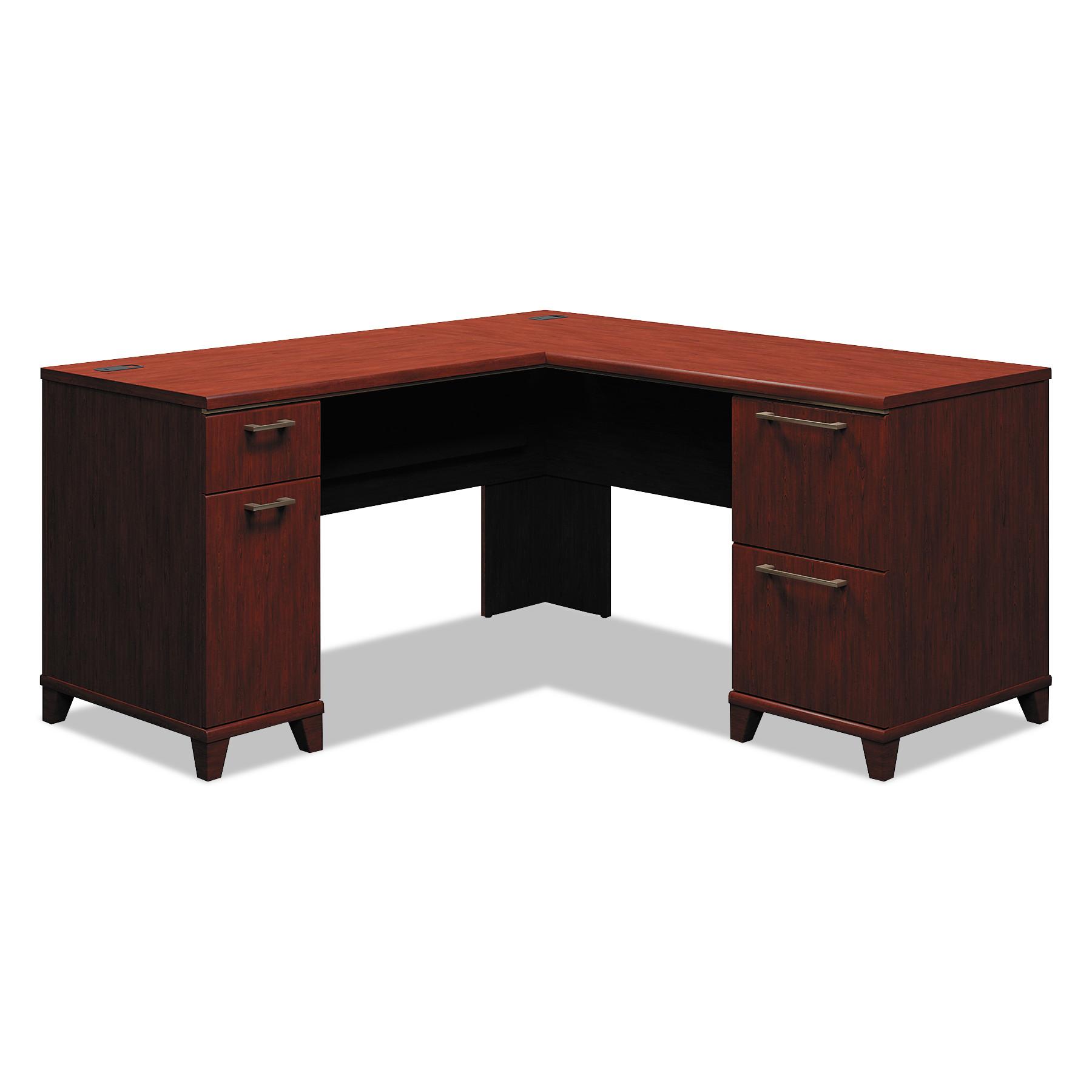 Enterprise Collection 60W x 60D L-Desk, Harvest Cherry (Box 1 of 2)