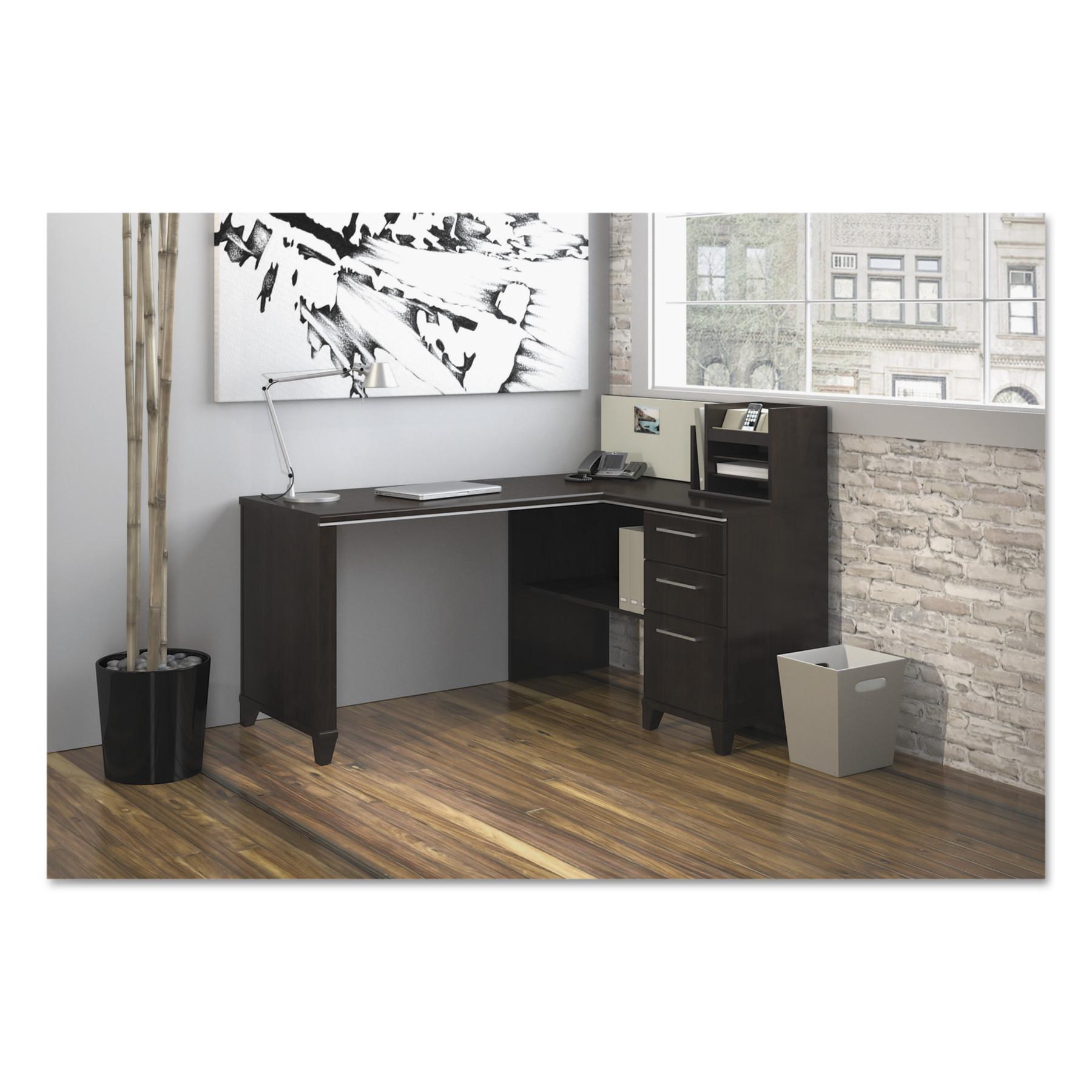 Enterprise Collection 60W x 47D Corner Desk, Mocha Cherry (Box 2 of 2)
