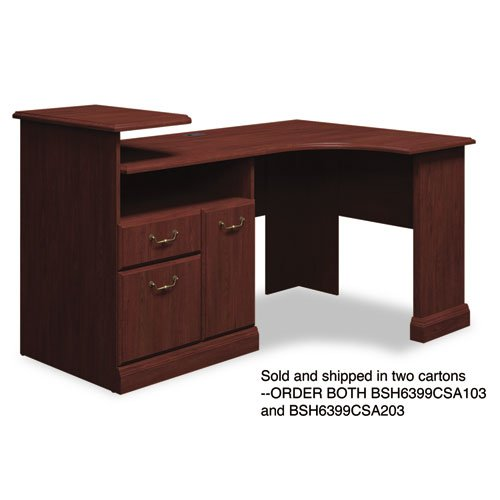 Bush Expandable Corner Desk Solution  (B/F/D) Box 2 of 2 Syndicate Harvest Cherry