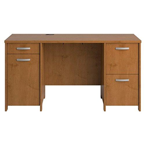 Envoy Double Pedestal Desk (Box 1 of 2), 58w x 23 1/4d x 30 1/4h, Natural Cherry