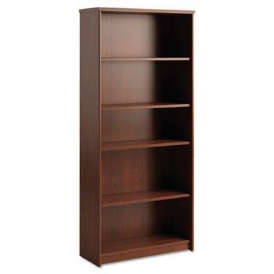 Envoy Series Five-Shelf Bookcase, 29 7/8w x 11 3/4d x 66 3/8h, Hansen Cherry