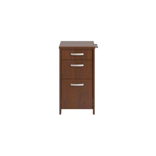 Envoy Series Three-Drawer Pedestal, 16w x 20d x 30 1/4h, Hansen Cherry