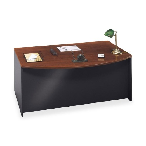 Series C Collection 72W Bow Front Desk Shell, Hansen Cherry