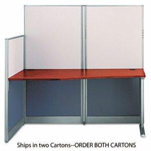 Straight Workstation (Box 1 of 2) Office-in-an-Hour, Hansen Cherry