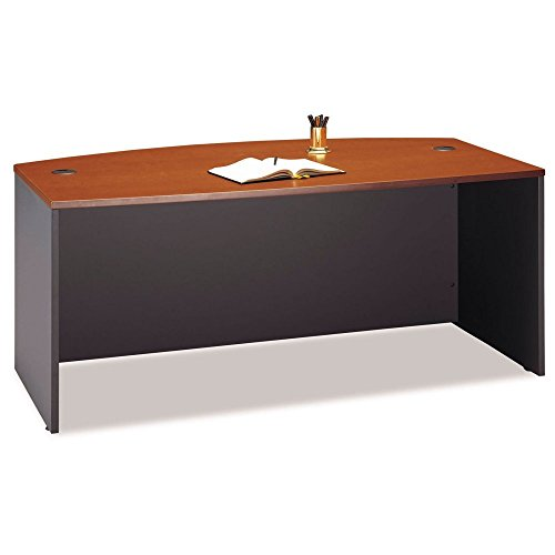 Series C Collection 72W Bow Front Desk Shell, Natural Cherry