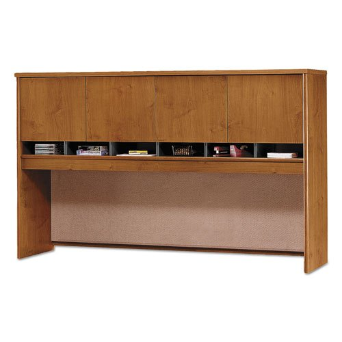 Series C Collection 72W Four-Door Hutch, Box 1 of 2, Natural Cherry