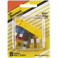 Bussmann BP/ATC-AH8-RPP High Amperage Emergency Automotive Fuse Kit, 9 Pieces