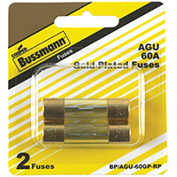 Bussmann BP/AGU-60GP-RP Automotive Fuse Assortments, Fast Acting - Glass, 60 Amp