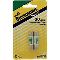 Bussmann BP/FNM-30 Cartridge Fuses, Midget, 30 Amp, Time Delay