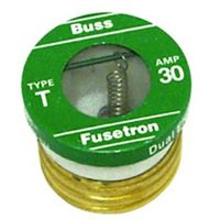 Bussmann T-30 Heavy Duty Low Voltage Time Delay Plug Fuse, 125 VAC, 30 A, 10 kA