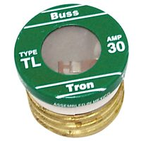 Bussmann TL-30 Low Voltage Medium Duty Time Delay Plug Fuse, 125 VAC, 30 A, 10 kA