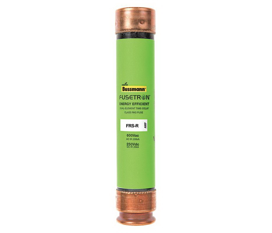 Cooper Bussmann Fusetron FRS-R Energy Efficient Non-Indicating Time Delay Fuse, 600 VAC/300 VDC, 5 A
