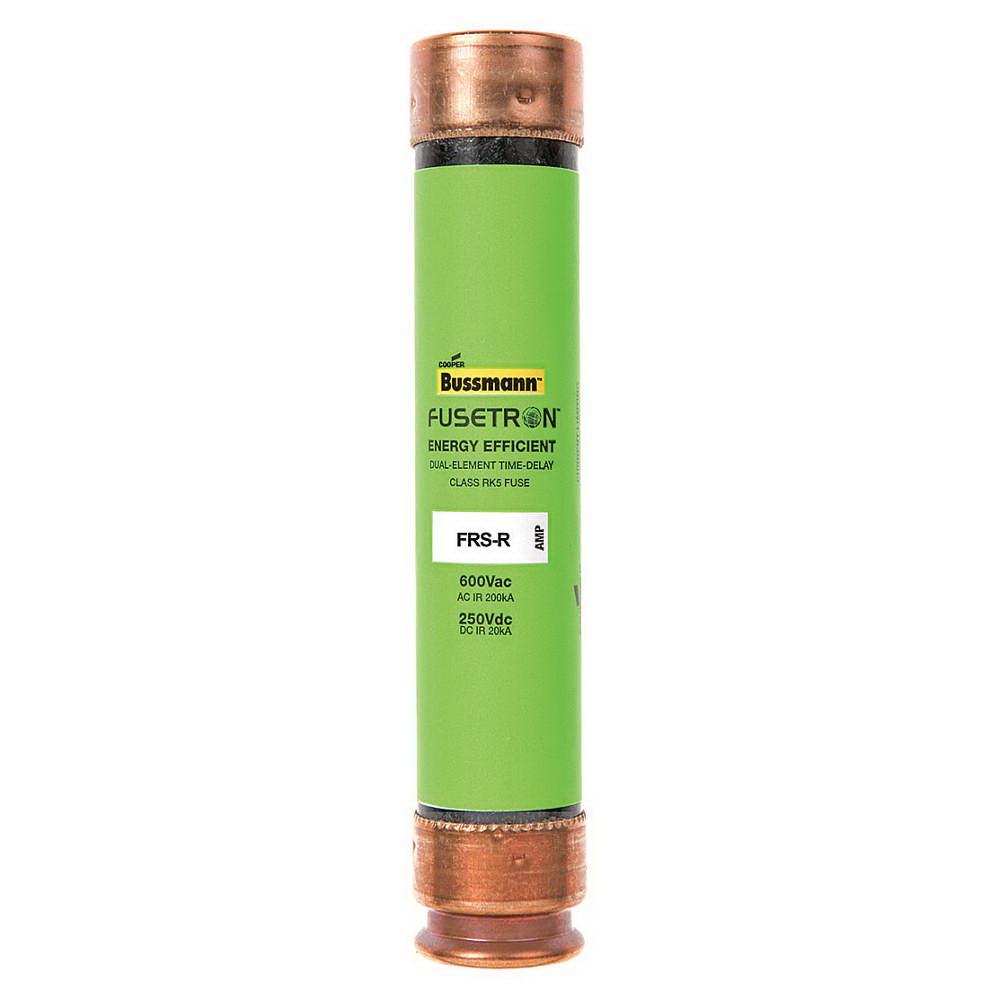 Cooper Bussmann Fusetron FRS-R Energy Efficient Non-Indicating Time Delay Fuse, 600 VAC/300 VDC, 15 A