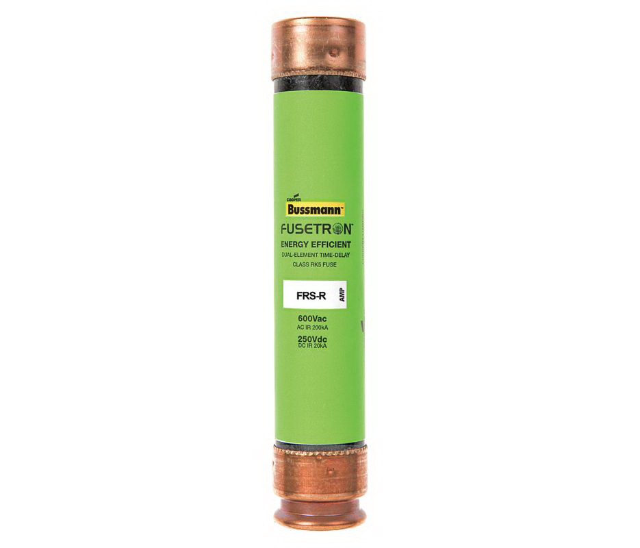 Cooper Bussmann Fusetron FRS-R Energy Efficient Non-Indicating Time Delay Fuse, 600 VAC/250 VDC, 45 A