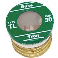 Bussmann TL Time Delay Medium Duty Low Voltage Plug Fuse, 30 A, 125 VAC, 10 kA