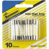 Bussmann BP/AGC-AH10-RP High Amperage Assortment Automotive Fuse Kit, 10 Pieces