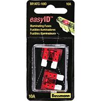 Bussmann BP/ATC-10ID Easy-Id Automotive Fuses, Illuminating, 10 Amp