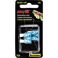 Bussmann BP/ATC-15ID Easy-Id Automotive Fuses, Illuminating, 15 Amp