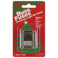 Bussmann MAS-3X5 Electronic Fast Acting Fuse with Clip Strips, 3 A