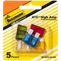 Bussmann BP/ATC-A5-RP High Amperage Assortment Automotive Fuse Kit, 5 Pieces