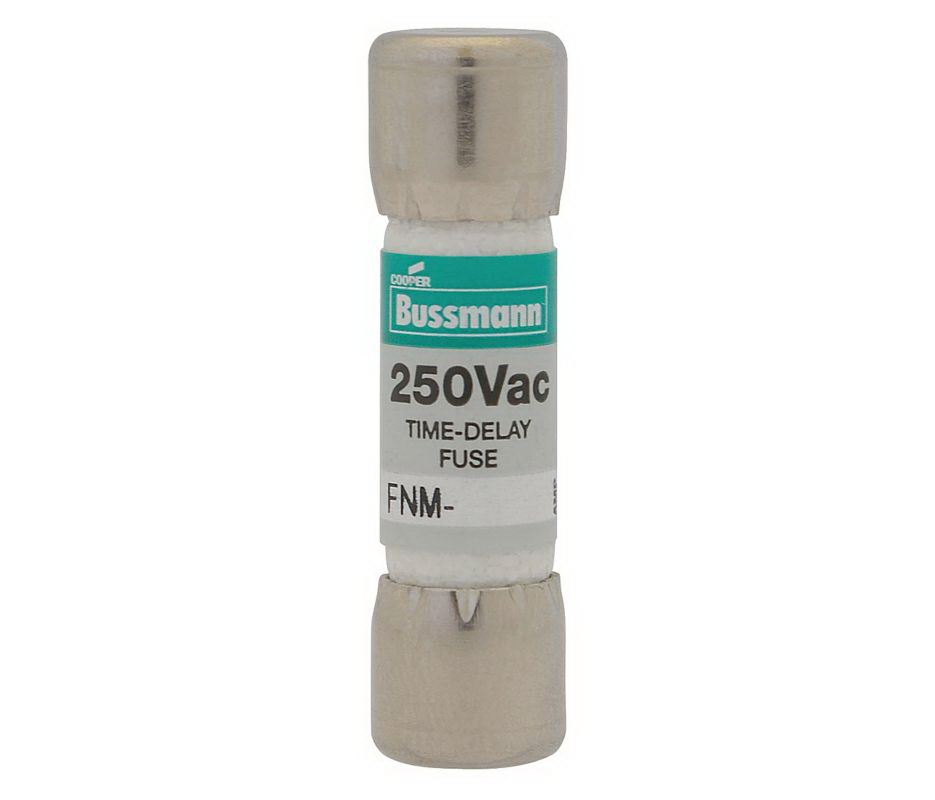 Cooper Bussmann Fusetron FNM Non-Indicating Time Delay Supplemental Fuse, 250 VAC, 20 A
